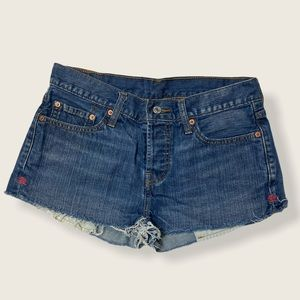Button Fly 501 Jean Shorts | 27